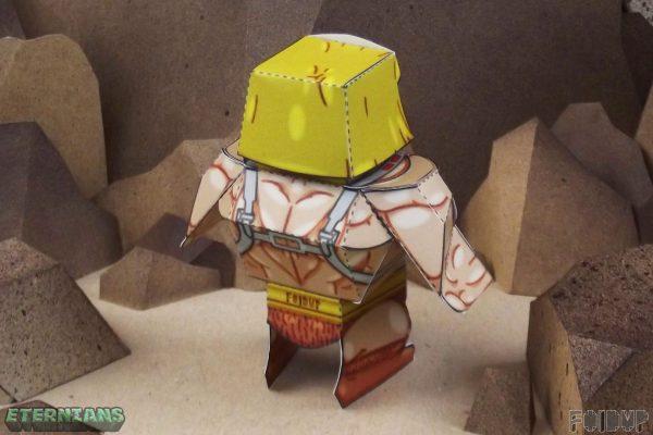 PTI Eternians He-Man Fan Art Paper Toy Back Image