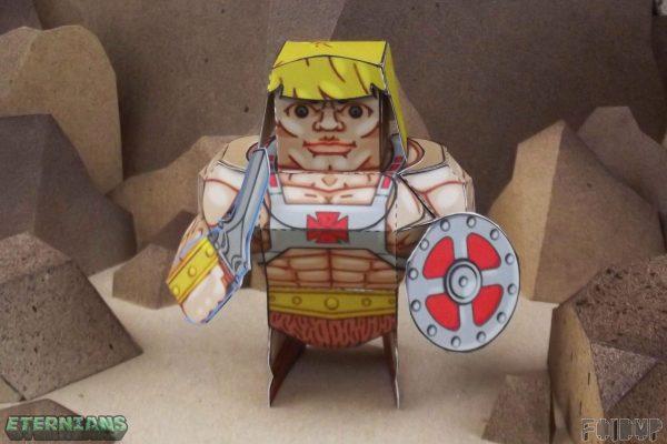 PTI Eternians He-Man Fan Art Paper Toy Front Image