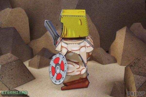 PTI Eternians He-Man Fan Art Paper Toy Side Image