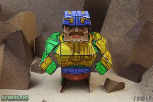 PTI Eternians Man-At-Arms Fan Art Paper Toy Arms Image