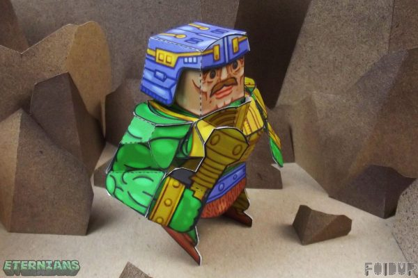 PTI Eternians Man-At-Arms Fan Art Paper Toy Mace Image