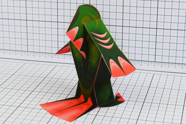 PTI Fingar Fish Monster Paper Toy Back Image