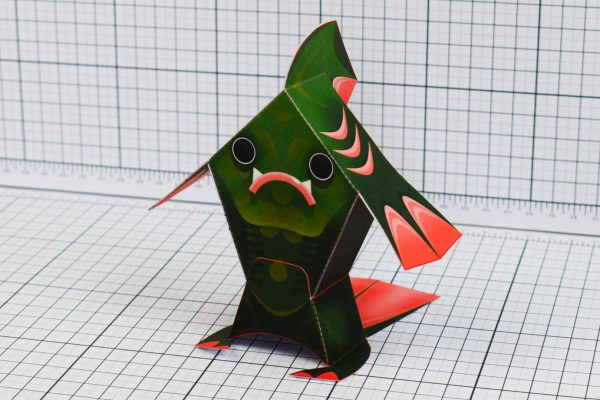 PTI Fingar Fish Monster Paper Toy Front Image