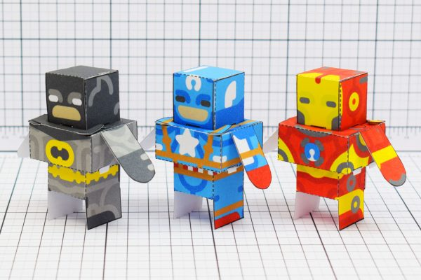 PTI Glueless Super Heroes Paper Toy Image Line
