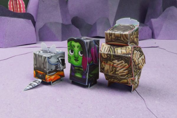 PTI Guardiens of the Galexy Marvel Paper Toy Groot Image