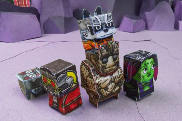 PTI Guardiens of the Galexy Marvel Paper Toy Group Image