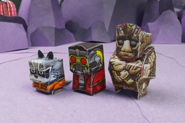 PTI Guardiens of the Galexy Marvel Paper Toy Three Image