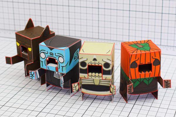 PTI Halloweenies Paper Toy Row Image
