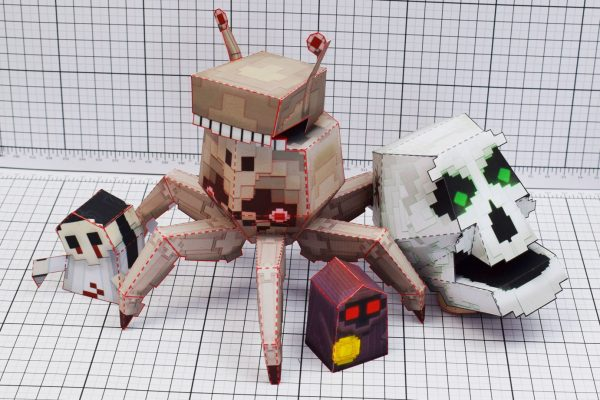 PTI Pixel Art Skull Crab Paper Toy Image Group