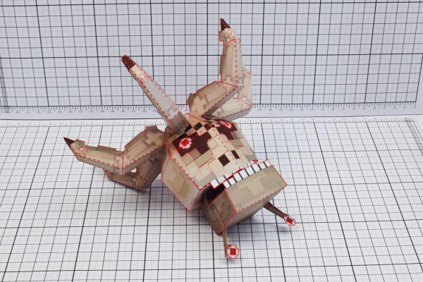 PTI Pixel Crab Paper Toy Image Top