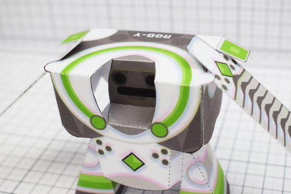 PTI RGB-Y Robot Paper Toy Close Image