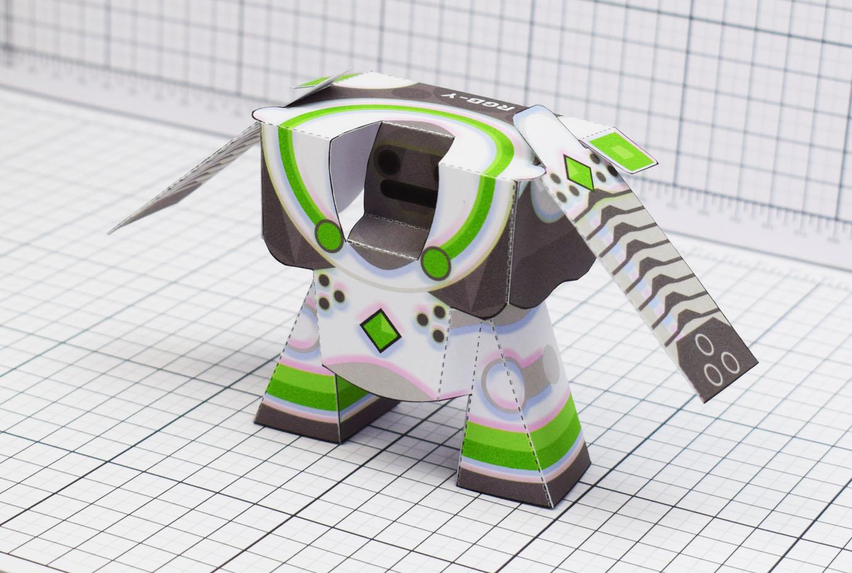 PTI RGB-Y Robot Paper Toy Main Image