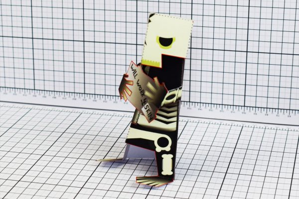 PTI Skeletoon Paper Toy Side Image