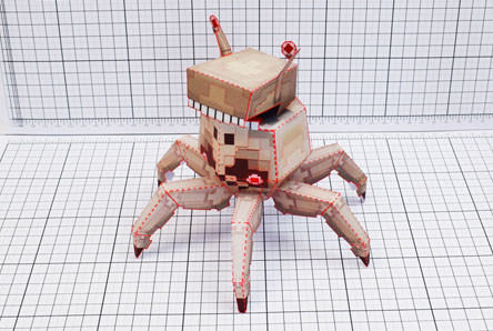 THU Pixel Skull Crab Paper Toy Single Thumbnail