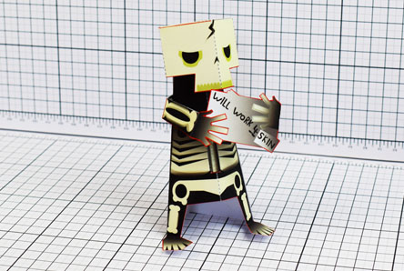 THU Skeletoon Paper Toy Single Thumbnail