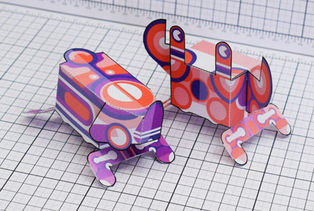THU Stag Crab Paper Toy Single Thumbnail