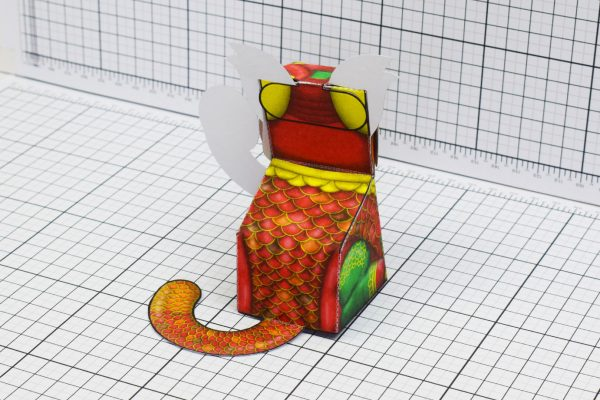 PTI Creationist Cat Chinese New Year Paper Toy Image Back