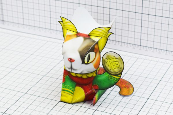 PTI Creationist Cat Chinese New Year Paper Toy Image Mask