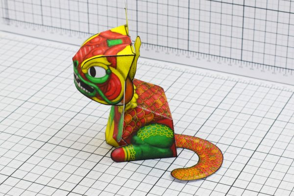 PTI Creationist Cat Chinese New Year Paper Toy Image Side