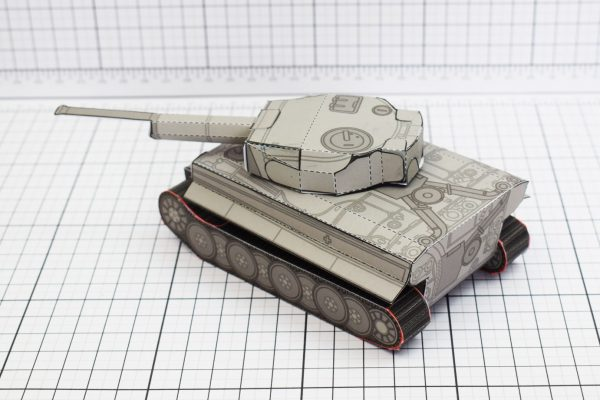 PTI History Tank Tiger Abteilung Paper Toy Image Back