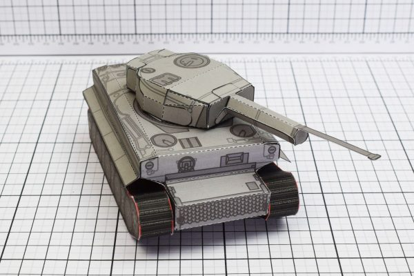 PTI History Tank Tiger Abteilung Paper Toy Image Close