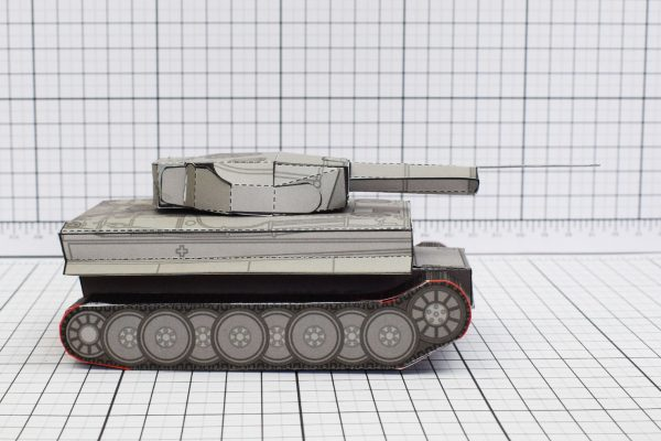 PTI History Tank Tiger Abteilung Paper Toy Image Side