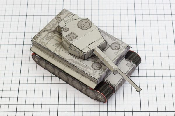 PTI History Tank Tiger Abteilung Paper Toy Image Top