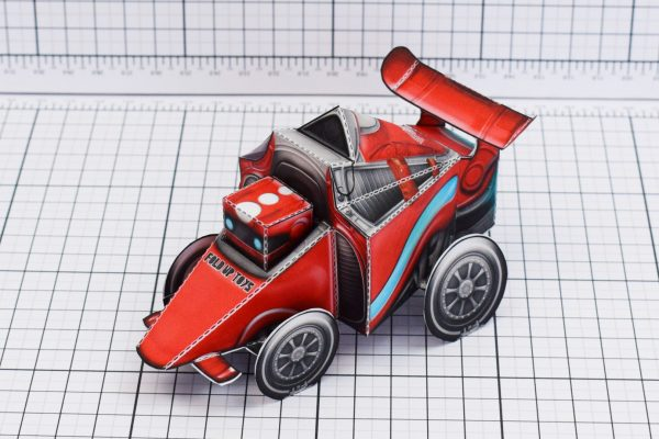 PTI UPC Robot Race Car Paper Toy Image Top