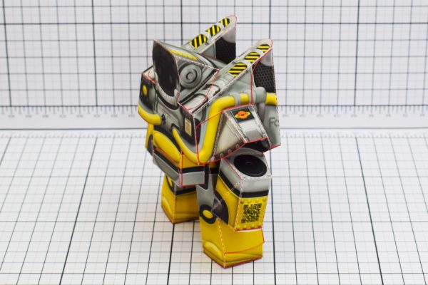 PTI Xplore Space Robot UPC Paper Toy Image Side