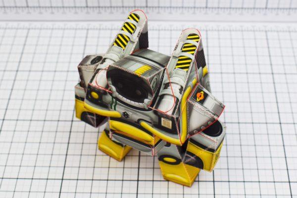 PTI Xplore Space Robot UPC Paper Toy Image Top
