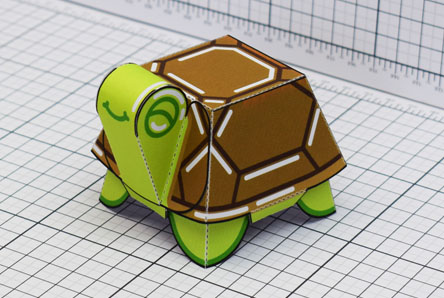 THU Happy Turtle Paper Toy Single Thumbnail
