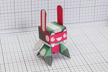 THU Spark Plug Robot Paper Toy Single Thumbnail