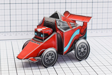 THU UPC Robot Race Car Paper Toy Single Thumbnail