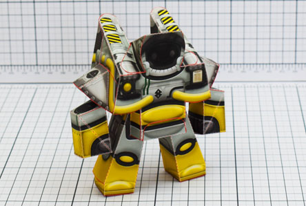 THU Xplore Space Robot UPC Paper Toy Single Thumbnail
