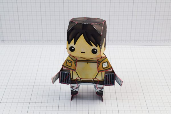 PTI Attack on Titan Cute Paper Toy Image Front
