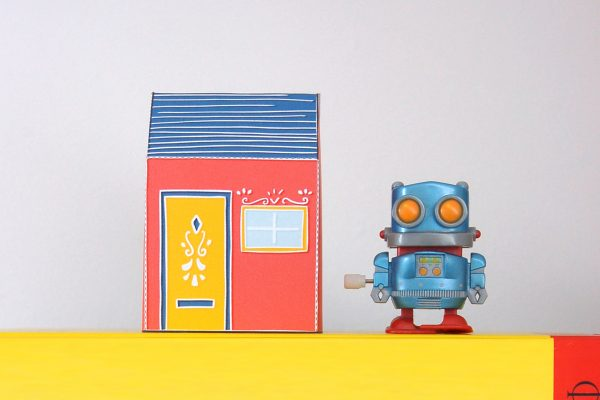 PTI Emma Fitz Collab House Paper Toy Image Robot