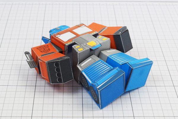PTI Optimus Prime Transformers Urban Paper Toy Image Bottom