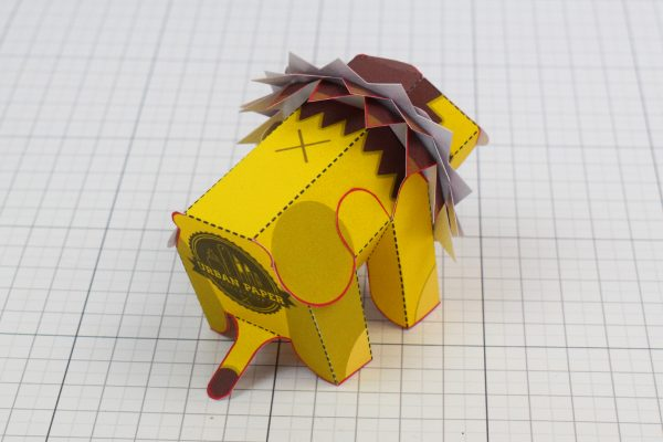 PTI Spike Lion Urban Paper Paper Toy Image Back