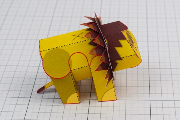 PTI Spike Lion Urban Paper Paper Toy Image Side