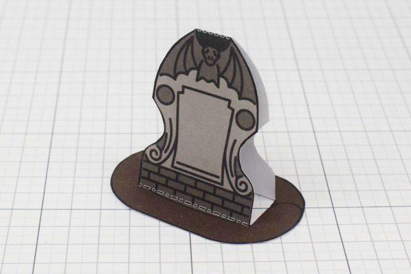 PTI Halloween Gravestones Paper Toy Twinkl - Stone C