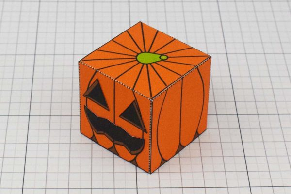 PTI Halloween Pumpkin Paper Toy Image - Colour