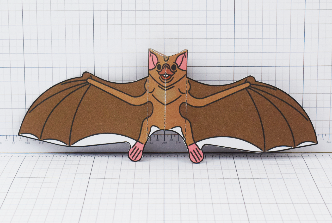 PTI Halloween Vampire Bat Paper Toy Image from Twinkl - Main