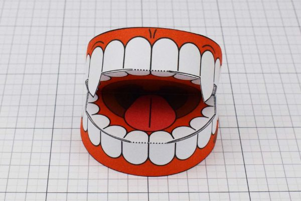 PTI Halloween Vampire Teeth Paper Toy Image from Twinkl - Front