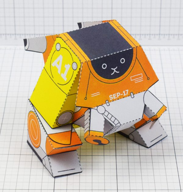 Patreon Exclusive paper toy craft model; advanced series asteroid hopper space robot by alex gwynne