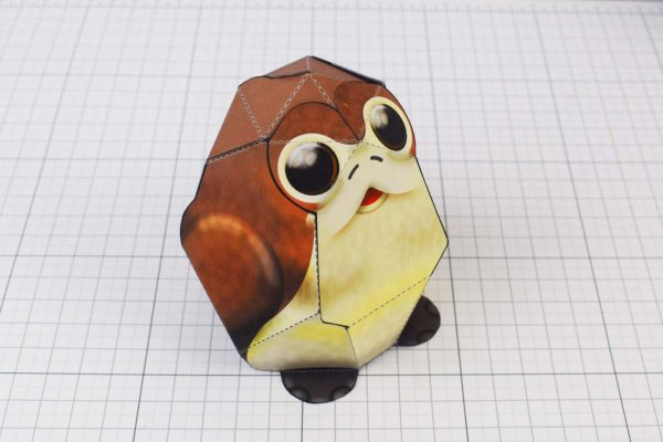 PTI Porg Star Wars Paper Toy Image - Top