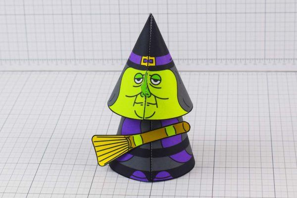 PTI Halloween Cone Witch Paper Toy Image from Twinkl - Front