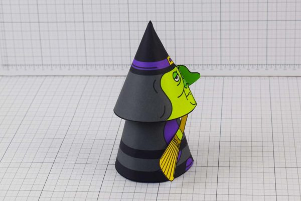 PTI Halloween Cone Witch Paper Toy Image from Twinkl - Side