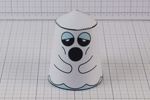 PTI Halloween Ghost Paper Toy Image from Twinkl - Front