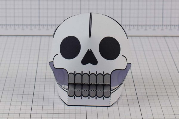 PTI Halloween Hanging Skull Paper Toy Image from Twinkl - Front