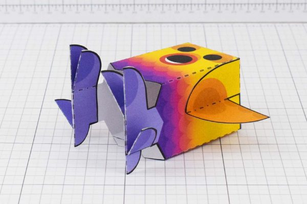 PTI Rainbow Bird Paper Toy Image - Bottom
